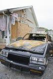ηλεκτρική πυρκαγιά αυτοκινήτων στοκ φωτογραφίες