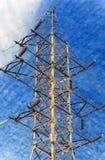 Ηλεκτρική υψηλή τάση πύργων Στοκ Εικόνες