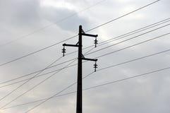 ηλεκτρική υψηλή pylon τάση Στοκ εικόνα με δικαίωμα ελεύθερης χρήσης