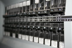 ηλεκτρικοί διακόπτες Στοκ φωτογραφίες με δικαίωμα ελεύθερης χρήσης