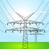 ηλεκτρικοί πύργοι Στοκ εικόνα με δικαίωμα ελεύθερης χρήσης