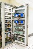 Ηλεκτρικός διακόπτης επιτροπής ή εξοπλισμού του ηλεκτρικών δωματίου/του διακόπτη Στοκ εικόνες με δικαίωμα ελεύθερης χρήσης