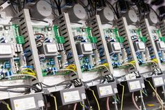 ηλεκτρικός εξοπλισμός Εκλεκτική εστίαση Στοκ Φωτογραφία