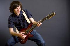 ηλεκτρικός κιθαρίστας κ Στοκ Φωτογραφίες