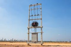 Ηλεκτρικός μετασχηματιστής στοκ εικόνα με δικαίωμα ελεύθερης χρήσης