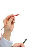 ηλεκτρικός μετρητής εκμετάλλευσης ηλεκτρολόγων Στοκ Εικόνα