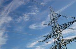 ηλεκτρικός ουρανός ισχύος γραμμών Στοκ φωτογραφίες με δικαίωμα ελεύθερης χρήσης