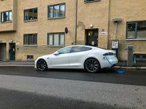 Ηλεκτρικός σταθμός χρέωσης αυτοκινήτων στο Όσλο στοκ εικόνες με δικαίωμα ελεύθερης χρήσης