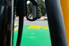 Ηλεκτρικός σταθμός χρέωσης οχημάτων στον Ουέλλινγκτον στοκ φωτογραφίες με δικαίωμα ελεύθερης χρήσης