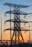 Ηλεκτρικός σταθμός διανομής πύργων Στοκ Εικόνα