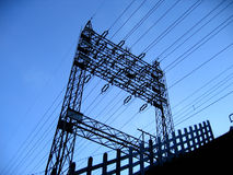 ηλεκτρικός στυλοβάτης Στοκ εικόνα με δικαίωμα ελεύθερης χρήσης
