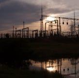 ηλεκτρικός υποσταθμός Στοκ φωτογραφίες με δικαίωμα ελεύθερης χρήσης