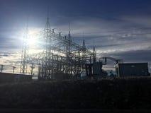 ηλεκτρικός υποσταθμός Στοκ Φωτογραφία