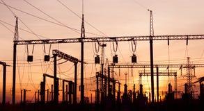 ηλεκτρικός υποσταθμός Στοκ εικόνα με δικαίωμα ελεύθερης χρήσης