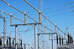 ηλεκτρικός υποσταθμός Στοκ Εικόνα