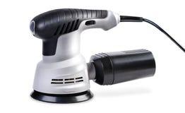 Ηλεκτρικός χειρωνακτικός κυκλικός γκρίζος μύλος που απομονώνεται στο άσπρο backgrou στοκ φωτογραφία με δικαίωμα ελεύθερης χρήσης