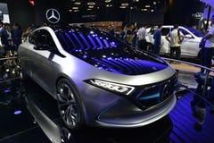 Ηλεκτρικό αυτοκίνητο έννοιας της Mercedes-Benz EQA Στοκ εικόνες με δικαίωμα ελεύθερης χρήσης