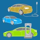 Ηλεκτρικό αυτοκίνητο ασφαλίστρου Στοκ Εικόνες