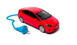 Ηλεκτρικό αυτοκίνητο με το ηλεκτρικό βούλωμα ελεύθερη απεικόνιση δικαιώματος