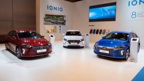 Ηλεκτρικό αυτοκίνητο της Hyundai Ioniq Στοκ φωτογραφίες με δικαίωμα ελεύθερης χρήσης