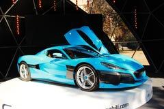 Ηλεκτρικό αυτοκίνητο Rimac CTWO στοκ εικόνα με δικαίωμα ελεύθερης χρήσης