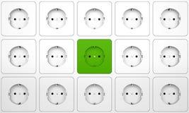 ηλεκτρικό βύσμα συνδέσμων Στοκ εικόνες με δικαίωμα ελεύθερης χρήσης