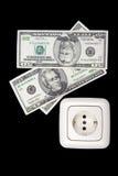 ηλεκτρικό βύσμα χρημάτων Στοκ φωτογραφίες με δικαίωμα ελεύθερης χρήσης