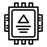 Ηλεκτρικό εικονίδιο κιβωτίων διακοπτών, ύφος περιλήψεων απεικόνιση αποθεμάτων
