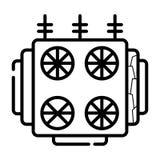 Ηλεκτρικό εικονίδιο μετασχηματιστών - διάνυσμα ελεύθερη απεικόνιση δικαιώματος