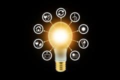 Ηλεκτρικό ενεργειακό εικονίδιο Στοκ εικόνες με δικαίωμα ελεύθερης χρήσης
