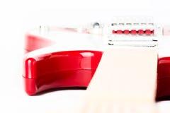 ηλεκτρικό κόκκινο κιθάρω& Στοκ Εικόνες