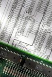 Ηλεκτρικό χαρτόνι Στοκ εικόνες με δικαίωμα ελεύθερης χρήσης