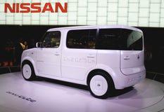 ηλεκτρικό ev Nissan denki κύβων αυτο&kap Στοκ φωτογραφία με δικαίωμα ελεύθερης χρήσης