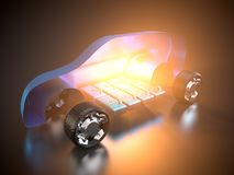 Ηλεκτρικό SUV και αυτοκινητική βιομηχανία Στοκ φωτογραφία με δικαίωμα ελεύθερης χρήσης