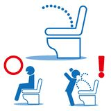 Ηλεκτρονική τουαλέτα - τουαλέτα μπιντέδων - τουαλέτα υψηλής τεχνολογίας διανυσματική απεικόνιση