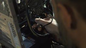Ηλεκτρονικός μηχανικός της τεχνολογίας υπολογιστών Βελτίωση υλικού υπολογιστών ΚΜΕ συντήρησης του τμήματος μητρικών καρτών PC απόθεμα βίντεο