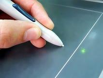 ηλεκτρονικό γράψιμο ταμπλετών Στοκ εικόνα με δικαίωμα ελεύθερης χρήσης