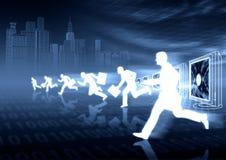 ηλεκτρονικό εμπόριο ανταγωνισμού Στοκ εικόνα με δικαίωμα ελεύθερης χρήσης