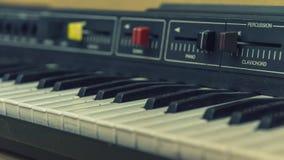 Ηλεκτρονικό πιάνο αναδρομικό Στοκ Φωτογραφία