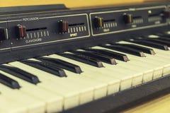 Ηλεκτρονικό πιάνο αναδρομικό Στοκ εικόνα με δικαίωμα ελεύθερης χρήσης