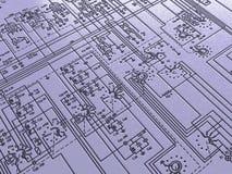 ηλεκτρονικό σχέδιο ανασ&k Στοκ εικόνες με δικαίωμα ελεύθερης χρήσης