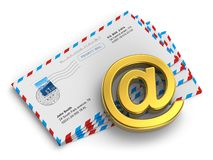 Ηλεκτρονικό ταχυδρομείο και έννοια μηνύματος Διαδικτύου ελεύθερη απεικόνιση δικαιώματος