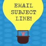 Ηλεκτρονικό ταχυδρομείο κειμένων γραψίματος λέξης υπαγόμενη γραμμή Επιχειρησιακή έννοια για την εισαγωγή που προσδιορίζει το ηλεκ διανυσματική απεικόνιση