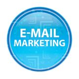 Ηλεκτρονικό ταχυδρομείο που εμπορεύεται το floral μπλε στρογγυλό κουμπί απεικόνιση αποθεμάτων