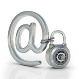 ηλεκτρονικό ταχυδρομείο που προστατεύεται Στοκ Εικόνες