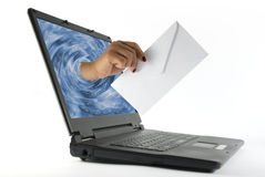 ηλεκτρονικό ταχυδρομεί&o Στοκ εικόνα με δικαίωμα ελεύθερης χρήσης