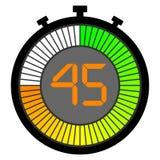 ηλεκτρονικό χρονόμετρο με διακόπτη με έναν πίνακα κλίσης που αρχίζει με πράσινο 45 δευτερόλεπτα ελεύθερη απεικόνιση δικαιώματος