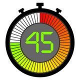 ηλεκτρονικό χρονόμετρο με διακόπτη με μια κλίση 45 δευτερόλεπτα διανυσματική απεικόνιση