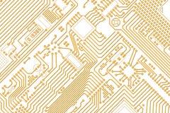 ηλεκτρονικό χρυσό λευκό  απεικόνιση αποθεμάτων