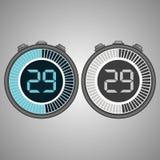 Ηλεκτρονικό ψηφιακό χρονόμετρο με διακόπτη 29 δευτερόλεπτα Στοκ Εικόνες